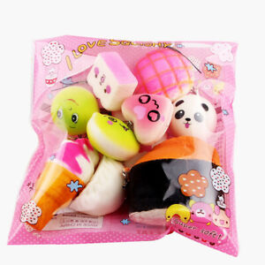 5-10-15-20-30-Pcs-Cute-Medium-Mini-Soft-Squishy-Bread-Toys-Key-Phone-Chain-Lot