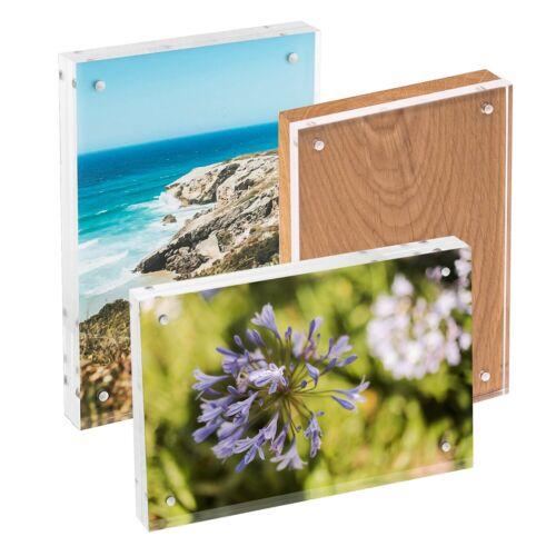 15 x 21 Magnétique Cadres Photo transparent acrylique Bois 10 x 15 HMF 4697