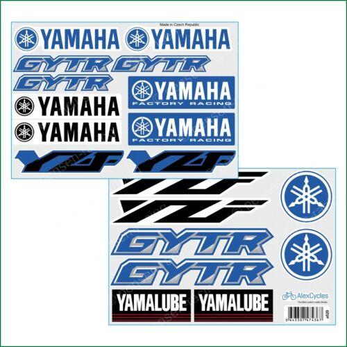 YAMAHA Factory Racing Motorbike Motorcycle 19 Laminated Decals Sticker YZF GYTR