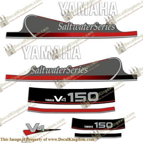 Yamaha 150hp V4 V4 V4 Saltwater Series Decals 3M Marine Grade Boat Decals 73929a