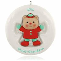 Great-grandson Cute Little Bear Ornament 2015 Hallmark