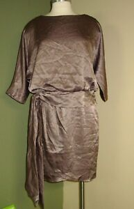 Womens-The-Limited-Event-Dress-Size-8-Metallic-New-Z31