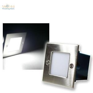 8er-Set-LED-Wandeinbauleuchte-Boden-Treppenleuchte-230V-kaltweiss-Edelstahl-Spots