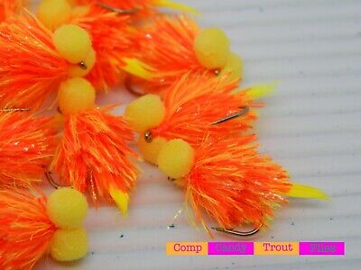 3 x Bi-Colour Fluo Pink /& Fluo Yellow Fritz Boobys