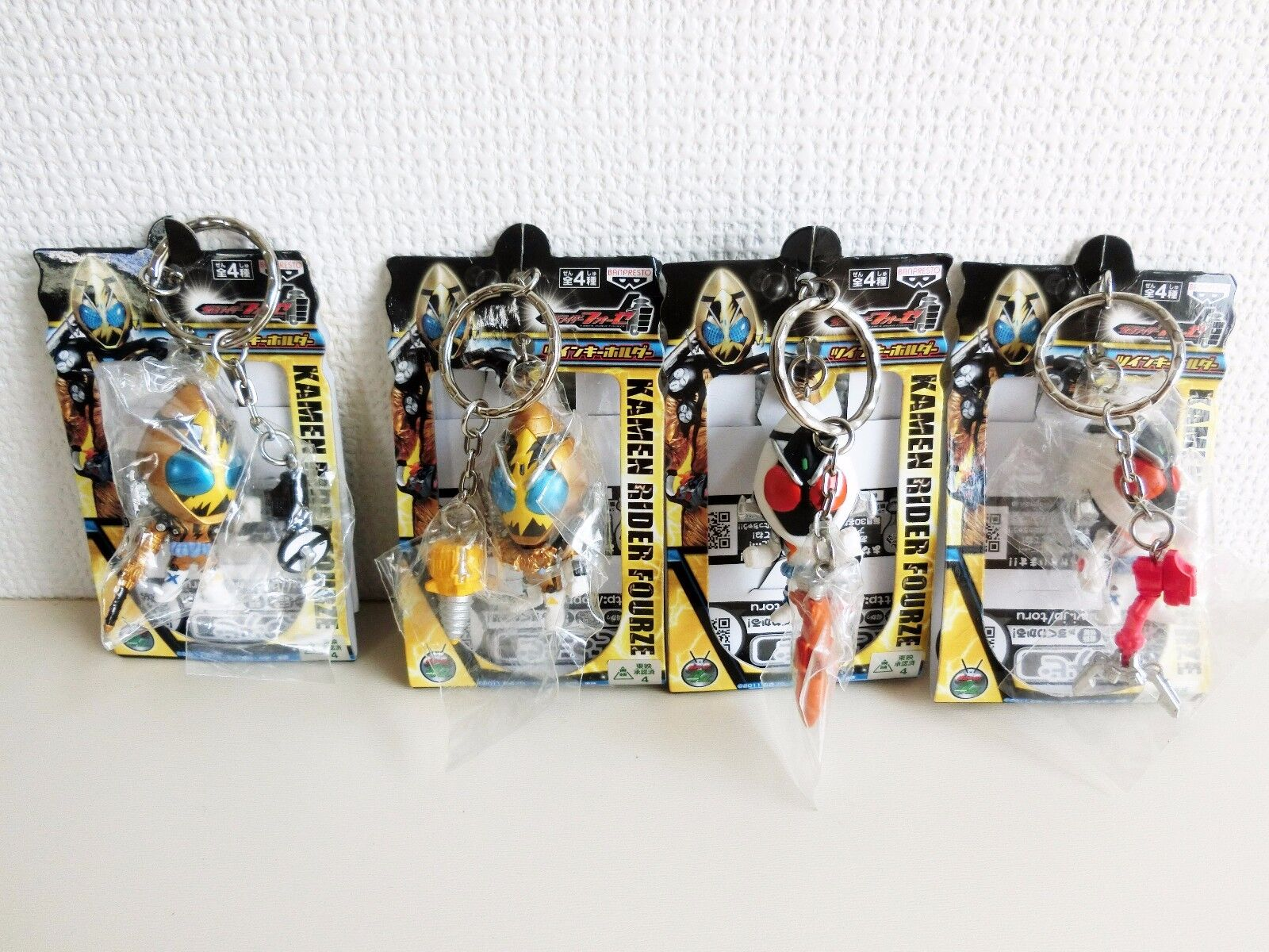 Masked Rider Kamen Fourze Twin Key Holder All 4 Types Complete Set Japan F/S