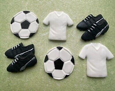 6 FONDANT football boots,edible cupcake