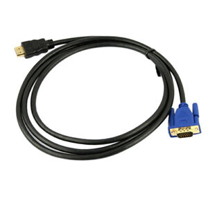 JP-CW-6Ft-1-8M-VGA-HDMI-Gold-Male-To-VGA-HD-15-Male-Cable-1080P-HDMI-VGA-M-M