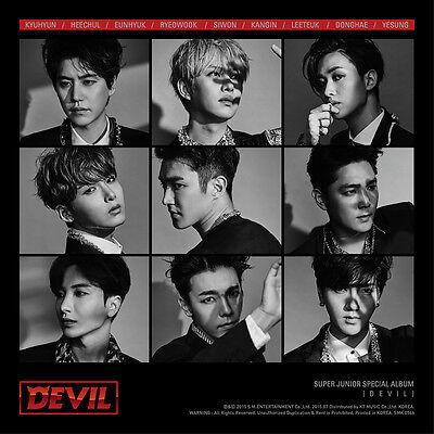 SUPER JUNIOR - DEVIL (Special Album) CD+Photobook+Photocard+Poster + Gift Photos