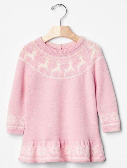 bd3aadf1e75b Gap Baby / Toddler Girls Size 12-18 Months Pink Reindeer Christmas ...