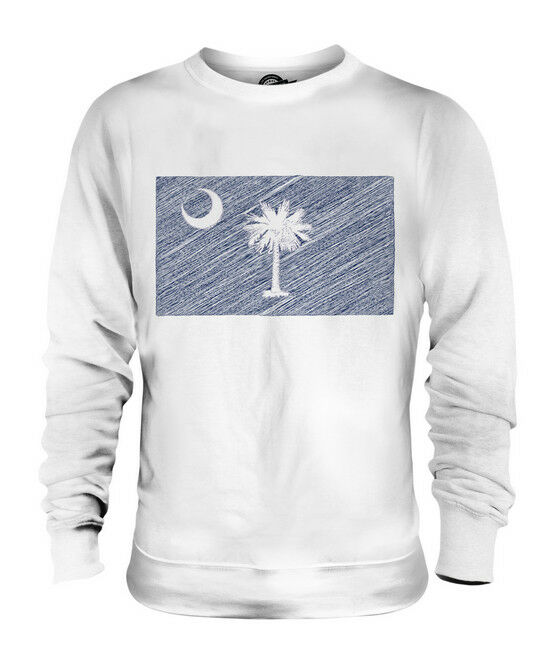SOUTH CAROLINA SCRIBBLE FLAG UNISEX SWEATER  TOP GIFT SOUTH CAROLINIAN FOOTBALL