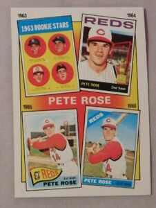 Details About 1986 Topps Pete Rose 1963 To 1966 Years Baseball Card Lot Of 2
