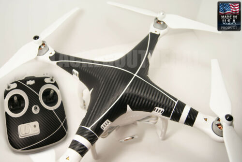 DJI Phantom Remote Carbon Fiber Graphic Wrap Decal Skin Vision plus FC40 1 2