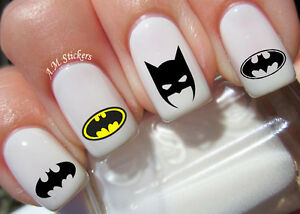 Batman Nail Art Stickers Transfers Decals Set Of 52 Ebay
