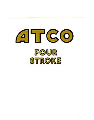 ATCO Vintage Mower  Repro Decal