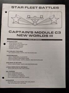 1x-Captain-039-s-Module-C3-New-Worlds-III-Rulebook-Used-Damaged-Star-Trek-star-Fl