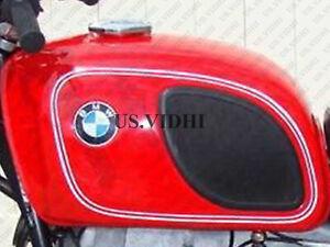 Nuevo BMW R90/6l R60/6 R75/6 Large Curry Rojo Con Blanco Pin Línea Depósito