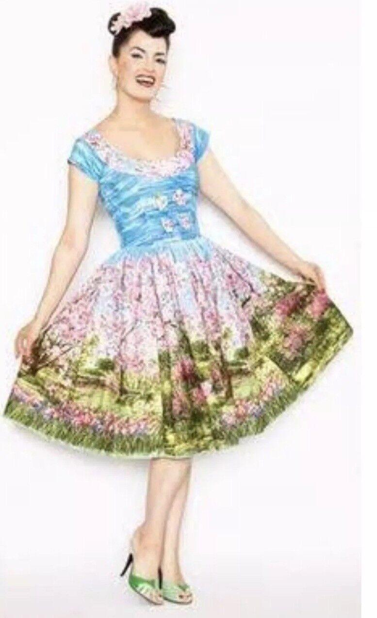 Beautiful Bernie Dexter Michelle Dress - Cherry Tree Blossom Print - Pockets - M