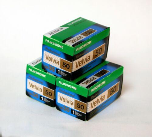 Fuji Velvia 50-36 35mm Paquete De Tres