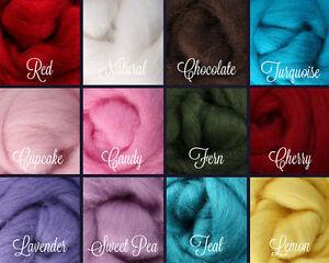 WINTER Palette Wool Roving Fiber 3 ozs.//84 grams Needle Felting Spinning Soap