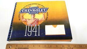 1941-CHEVROLET-Mechanical-Features-Album-Spiral-Bound-Very-Good-Condition-CDN