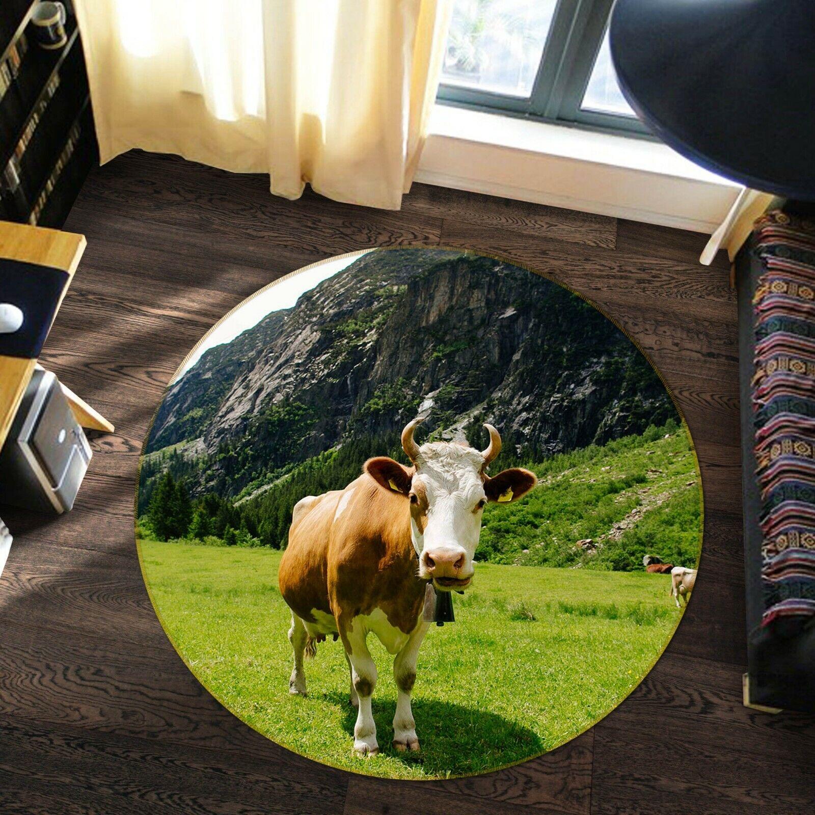 3d montagna MUCCA a002 animale gioco antiscivolo tappeto elegante foto TAPPETO Wendy