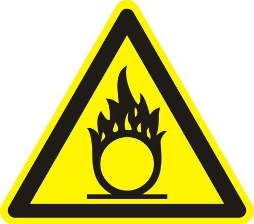 Aufkleber /_ ca Warnaufkleber 6 cm /_ Warnung vor brandfördernden Stoffen