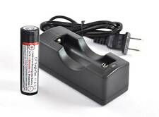 Eagletac 1600mAh 17650 Rechargeable Battery and Charger Kit - Replacing 2xCR123A
