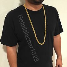 "Gold Plated 34"" Long & Heavy Men's  Necklace Jewelry Chain Hip Hop Rap Bling"