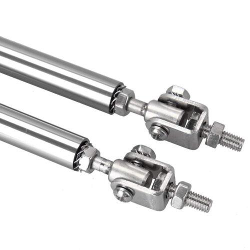 "Silver Adjustable 5.9/"" Car Front Bumper Lip Splitter Rod Strut Tie Bar Support"