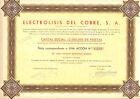 Electrolisis del Cobre SA, accion, Barcelona, 1946