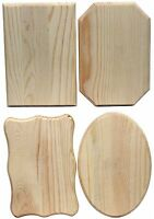 Creative Hobbies® Unfinished Wood Plaques, 6.5 In X 4.5 Inch, 4 Assorted Shapes