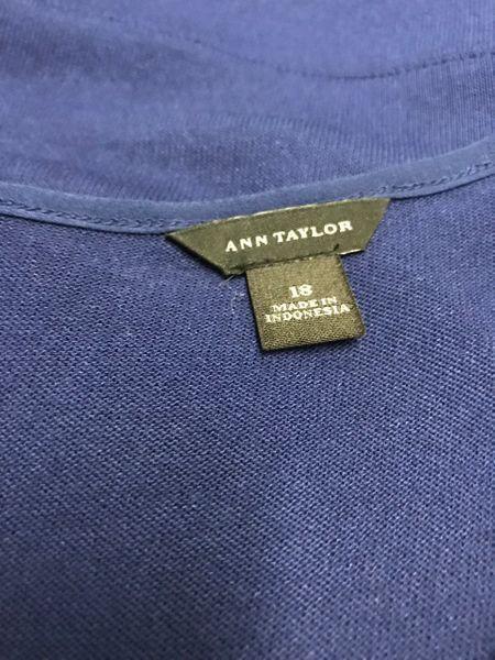 Ann Taylor Taylor Taylor Royal bluee L S Exposed Zipper Dress Size 18 NWOT c4a6c3