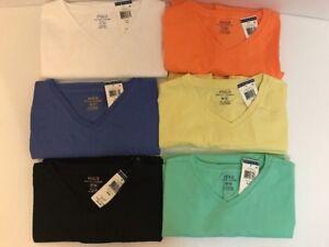 NEW-Polo-Ralph-Lauren-Men-039-s-V-Neck-Classic-Fit-T-Shirt-Tee-S-M-L-XL-XXL