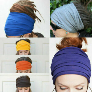Women-Wide-Yoga-Headband-Stretch-Hairband-Elastic-Hair-Band-Head-Wrap-Turban-New