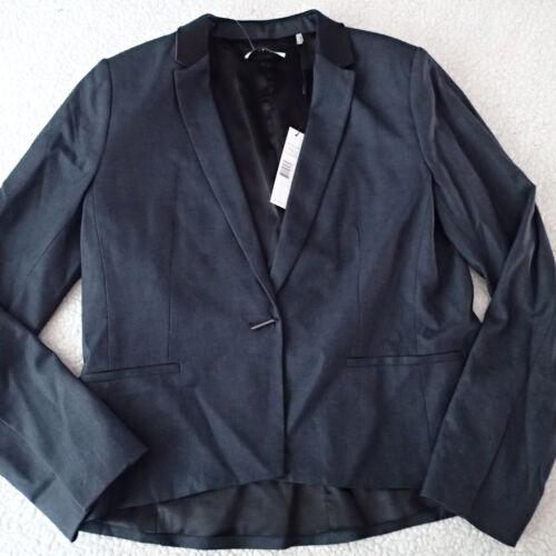 giacca C donna donna Tahari Sz Blazer 10 scuro grigio da top da Tqwnf5O
