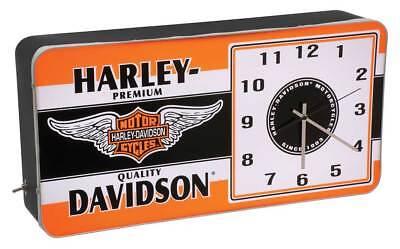 Harley Davidson Winged Bar Amp Shield Led Vintage Ad Metal