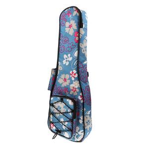 Ukulele Gig Bag Ukulele Tasche für Musikinstrument Zubehör 21 Zoll blau
