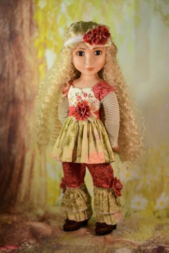 """Bohemian Girl Digital PDF Dress /& Hat Pattern Fits 16/"""" A Girl for All Time AGAT"""