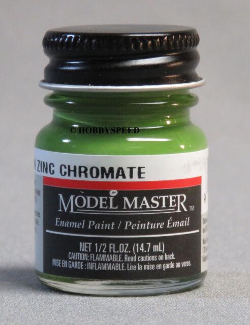 TESTORS PAINT MODEL MASTER GREEN ZINC CHROMATE ENAMEL 1/2oz 14 7ml TES1734  NEW