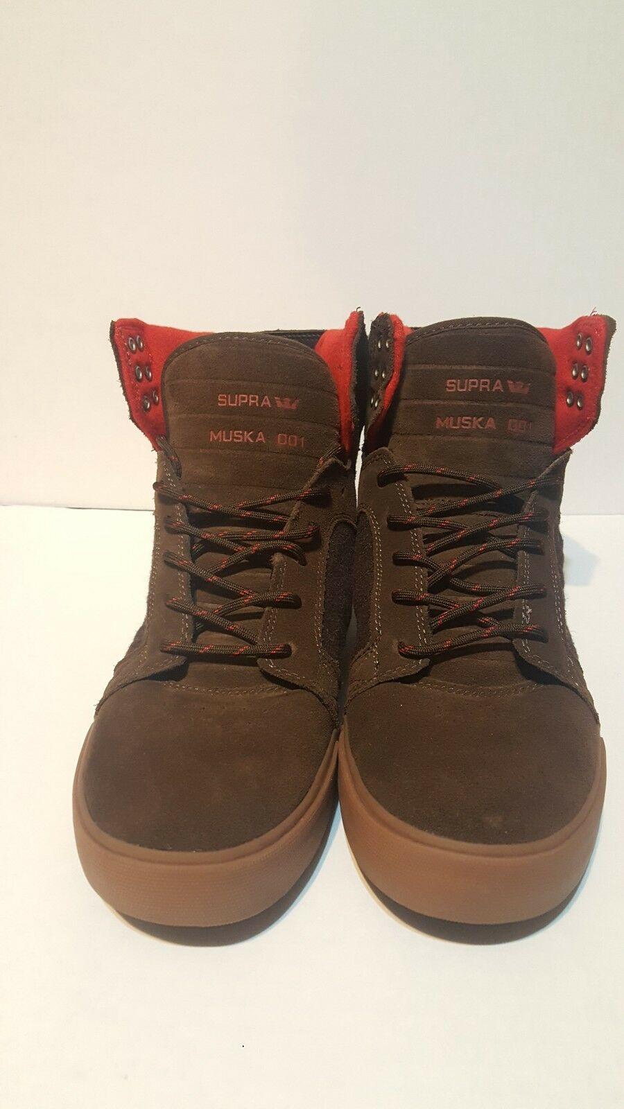 Supra Skytop shoes, brown-red, Size 10 Regular US Muska 001