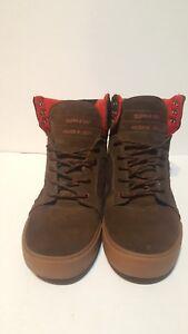 10 Brown Shoe Us 001 Size Supra Skytop Muska red Regular EXqx5C4w