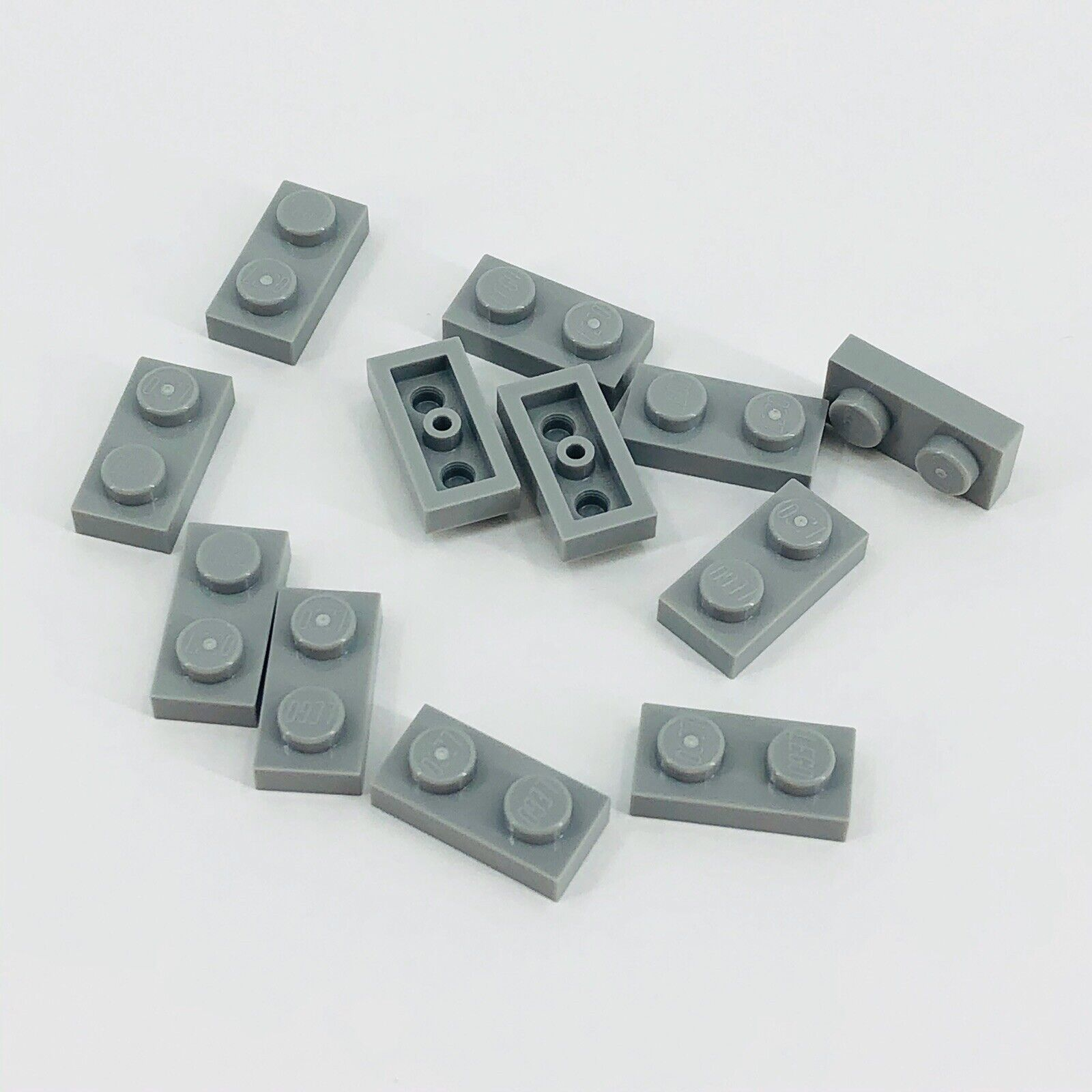 Lego 20 x placa 1x8 nuevo gris oscuro newdark Grey Gray Basic plate 3460 4210998