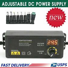 3v 24v 25a 60w Adjustable Dc Power Supply Adapter Control Volt Display Us Stock