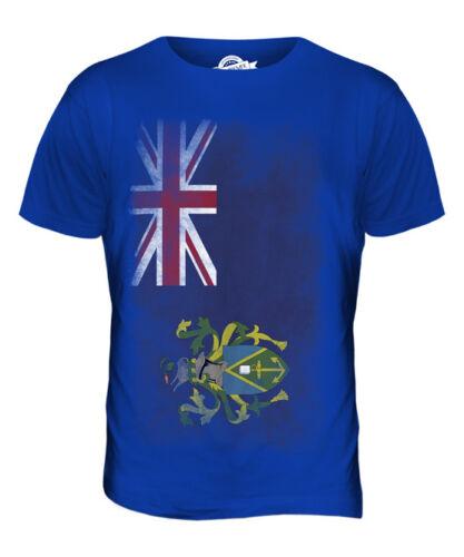 PITCAIRN ISLANDS FADED FLAG MENS T-SHIRT TEE TOP GIFT SHIRT CLOTHING JERSEY