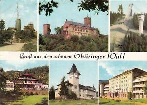 Gruss-aus-dem-schoenen-Thueringer-Wald-Ansichtskarte-beschriftet