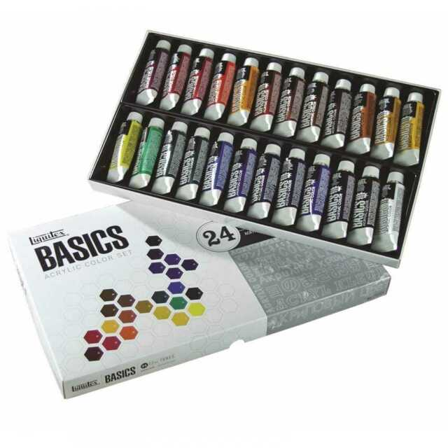 Liquitex Basics Acrylic Paint 24 Colours