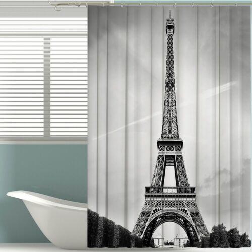 "71/"" Long Bathroom Shower Curtain 3D Printed Waterproof With Hooks Weighted Hem"