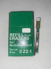Vintage Pentel Refill Eraser Mechanical Pencil Z2 1 New Tube Green R