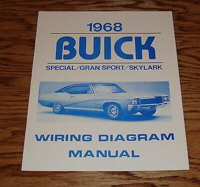1968 Buick Special Gran Sport Skylark Wiring Diagram Manual 68 Ebay