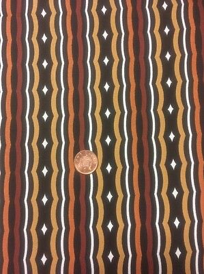100/% Cotton quilting Fabric Dark Brown Tan Swirl Stripe Benartex Nature Scapes 4